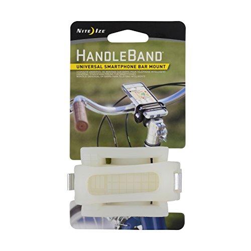 (Nite Ize HandleBand Universal Smartphone Bike Handlebar Mount, Clear )