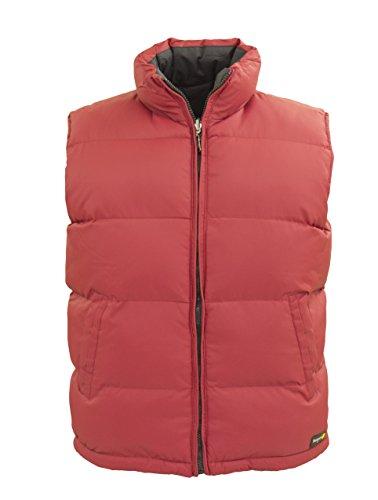 Tempco Men's Reversible Puffer Vest - Medium - Red/Black (Reversible Puffer Vest)