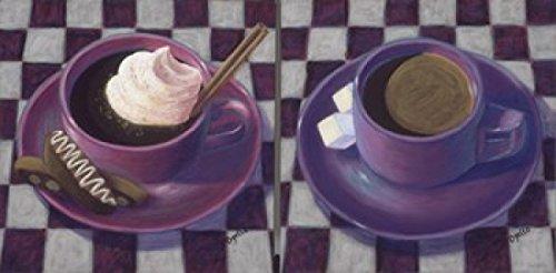 Caffeine Cups 2 Poster Print by Debra Ozello (24 x 12)
