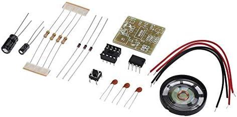 id/éal pour Votre s/écurit/é /à Domicile Noir Doorbell Suite Kit de Fabrication /électronique Doorbell Suite DIY NE555 Facile /à Installer