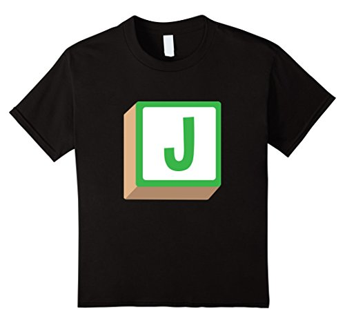Kids J Alphabet Block Halloween Group Costume T-Shirt 6 Black - Alphabet Costumes Ideas