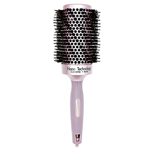 Gyryp Nano Thermal Ceramic & Ionic Round Barrel Hair Brush with Boar Bristle for Blow Drying, Curling, Styling, Straightening (2 inch)