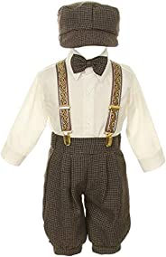 Vintage Dress Suit-Tuxedo Knickers Outfit Set Baby Boys & Toddler-Beige/I
