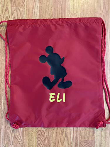 Handmade Disney Drawstring Backpack with Name Disney Trick or Treat Not so Scary Halloween Party