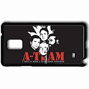 Personalized Samsung Note 4 Cell phone Case/Cover Skin A Team Black