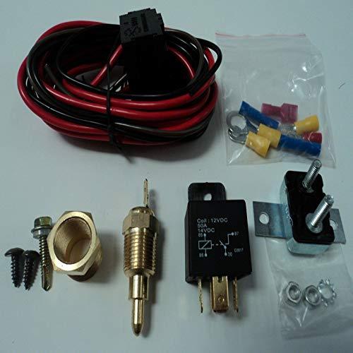 colorato Pudincoco universale termostato sensore motore termostato 50A rel/è kit rel/è a 185 /° e spento a 170 /°