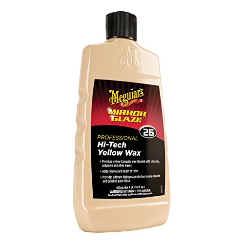 Meguiar's M26 Mirror Glaze Hi-Tech Yellow Wax - 16 (Meguiars Fine Cut Cleaner)