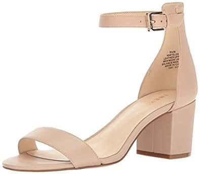 Nine West Women's Fields Leather Dress Sandal, Natural, 5 M US