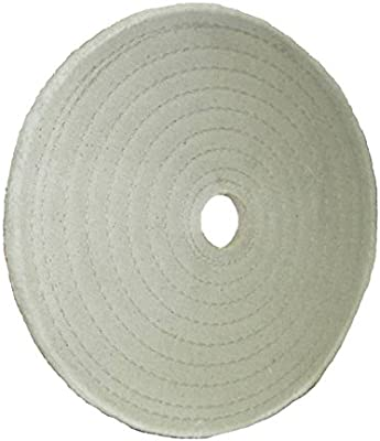 6-Inch Diameter White Builders World Wholesale Distribution Divine Brothers 100043AK 20 Ply Full Disc Cotton Buff 3//8-Inch Spiral Sew for Cutting 1-Inch Arbor Hole