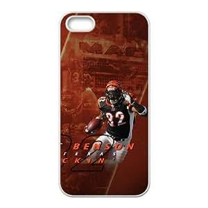 Cincinnati Bengals iPhone 5 5s Cell Phone Case White persent zhm004_8506061