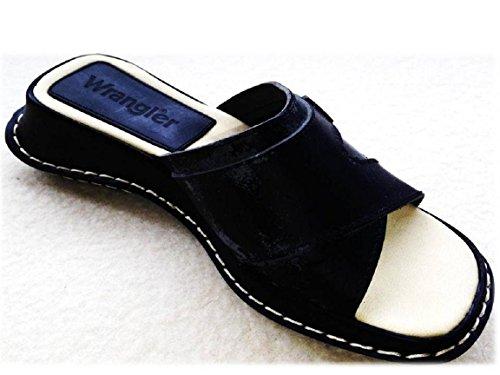Wrangler, Pantofole donna Nero Pinkish