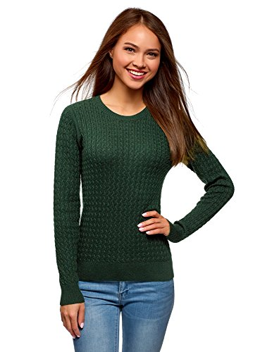 oodji Collection Femme Pull en Maille Textur