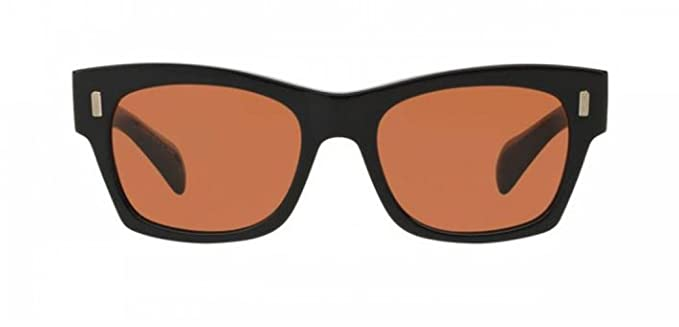 023a22b057 Oliver Peoples - The Row 71st Street - 5330 51 - Sunglasses (BLACK,  persimmon