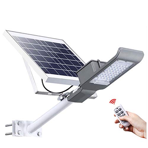 XNCH Solar Floodlights, LED Street Light with Pole, High Brightness Outdoor Waterproof Ip65 Garden Light Extra Long Lighting Time Safety Lamp, Solar lights-100