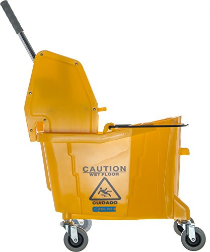 Carlisle 3690504 Commercial Mop Bucket With Down Press Wringer, 35 Quart Capacity, Yellow by Carlisle (Image #6)