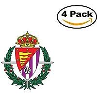 fan products of Real Valladolid Club de Futbol Spain Football Club Soccer FC 4 Sticker Decal 4X4