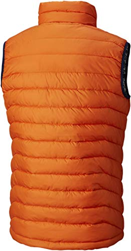 Columbia Hooded Men's Jacket Backcountry Orange Polyester POWDER Puffer LITE VEST 41U4Z