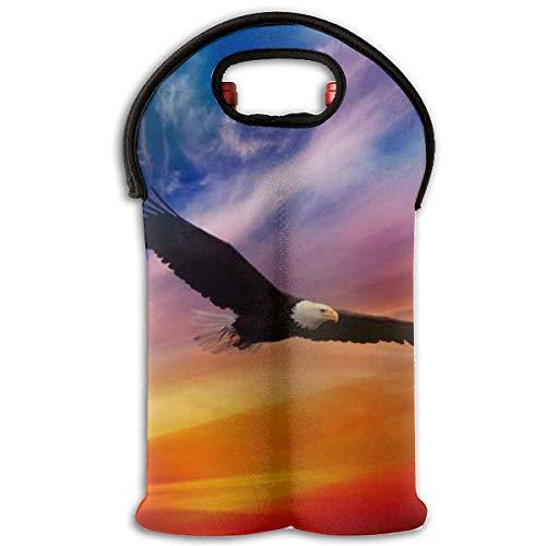 (Red Wine Sets,US Virgin Islands Badge Eagle Tote Bag Traveling Wine/Water Bottle Handbag With Carry Handle Two Bottle Drinks Beer Holder)
