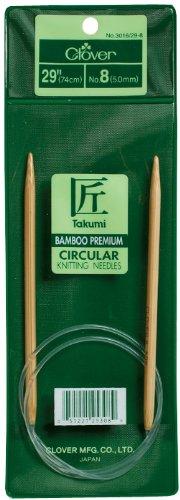 Clover Takumi Bamboo Circular 29-Inch Knitting Needles, Size - Akc Beaver