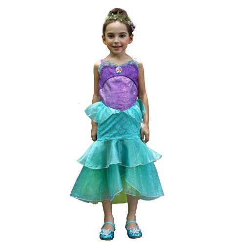 Princess Ariel Costume For Toddlers (Dressy Daisy Little Mermaid Ariel Costume Princess Halloween Fancy Dress Up for Toddler Girl Size 3 / 4T)