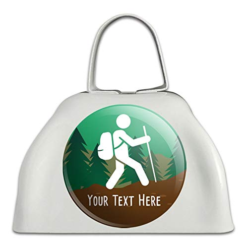 Personalized Custom Hiker Hiking Symbol 1 Line White