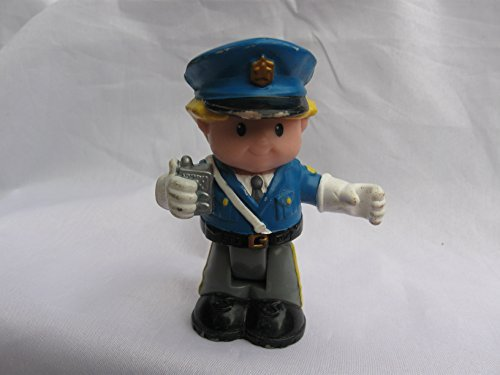 Fisher Price Little People Bendables Police Officer, Policeman Eddie Figure, Add On For Learn About Town Play Set, OOP