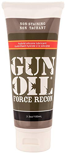 GUN OIL Force Recon Hybrid Silicone Lubricant - Hybrid Gel Consisting Of High-Quality Silicone And Pure Water For Light-Weight Long-Lasting Lubrication (3.3 Fluid Ounce - 100 Milliliter)