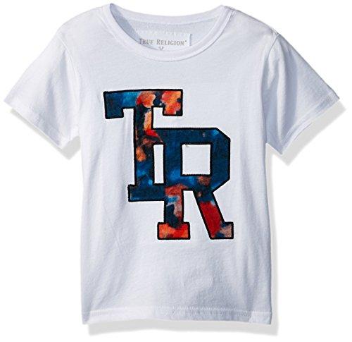 (True Religion Boys' Toddler Logo Tee Shirt, White_100, 3T)