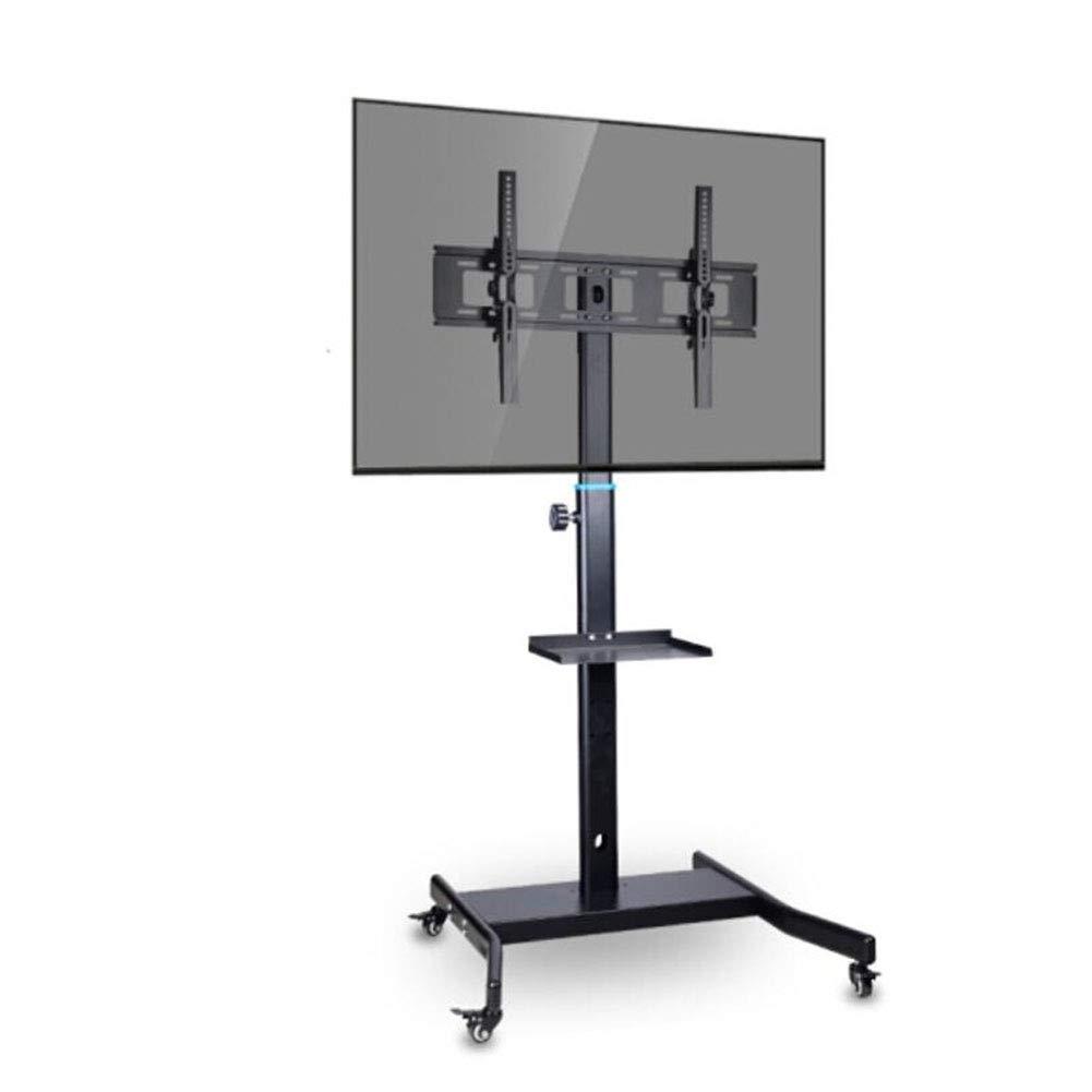 モバイル tv スタンド、ビデオ会議モバイルフロアブラケットシングルトレイ無料リフティング32-60 インチ LED 液晶プラズマテレビトロリースタンド   B07KNK2PL5