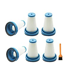 EZ SPARES 6Pcs Replacement for Black&Decker,VC2920 Hepa Filter H12, for 2-in-1 Cordless Stick Vacuums # SVF11 Attachment