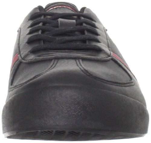 Lacoste Heren Aleron Ci Sneaker Zwart / Rood