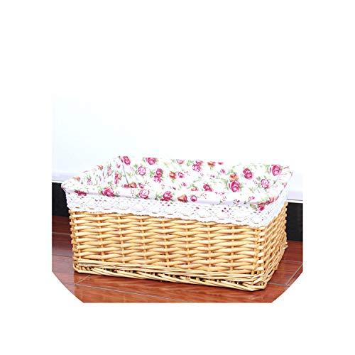 - Bamboo Weaving Storage Basket Fruit Picnic Basket Rattan Storage Box for Cosmetics Snacks Tea Book Organizer Handiwork,02,China,B(30X20X12 cm)
