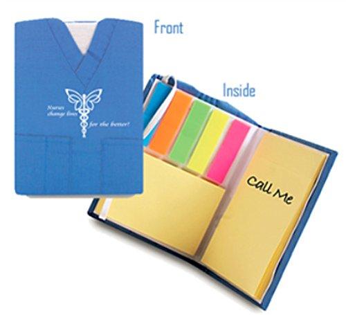 Nurse Mini Scrub Notepad with (Mini Sticky Notepad)