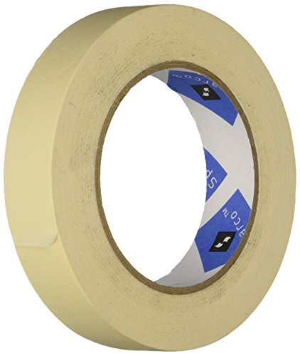 Economy Masking Tape, 3-Inch Core, 1-Inch x 60 Yards, Natural Kraft