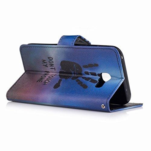 Yiizy Samsung Galaxy A5 (2017) Custodia Cover, Mano Fredda Design Sottile Flip Portafoglio PU Pelle Cuoio Copertura Shell Case Slot Schede Cavalletto Stile Libro Bumper Protettivo Borsa