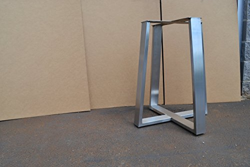 Brushed Stainless Metal Table base, Tapered Pedestal Style - Any Size and Color! Tapered Pedestal