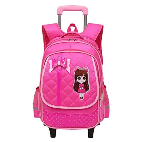 65e7e9bb1 OPmeA Princesa Style Trolley con Ruedas Mochila Que Lleva la Maleta Dos  Asas Bolso Lindo de