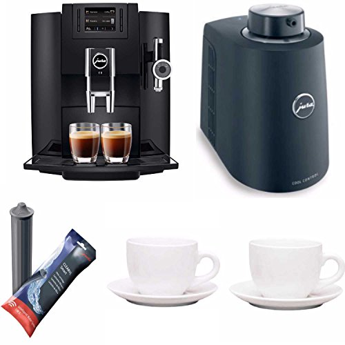 Jura E8 Espresso Coffee Machine + Free Jura Chilled Milk Container, Smart Filter Cartridge and Tiara Espresso by Jura