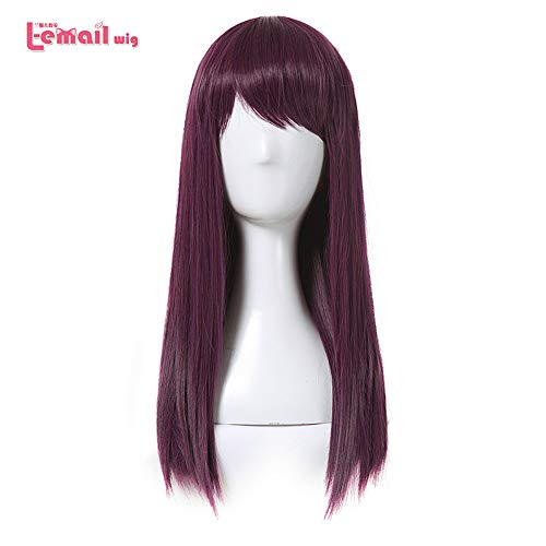 Wig Cosplay Party Costume Soft Synthetic Unisex Movie Mal Character Long Purple Heat Resistant Synthetic Hair Perucas -