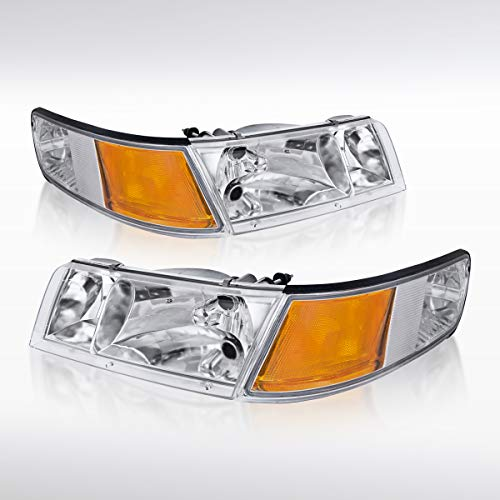 - Autozensation For Mercury Grand Marquis Chrome Clear Headlights+Corner Signal Lamps