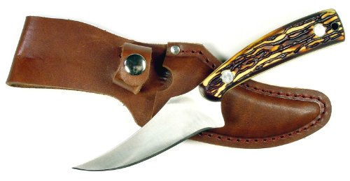 4 Inch Skinning Delrin Handle Leather product image