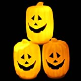 1Pc Supreme Popular Halloween LED Nightlight Decor Favor Festival Patterns Long Pumpkins Color Orange