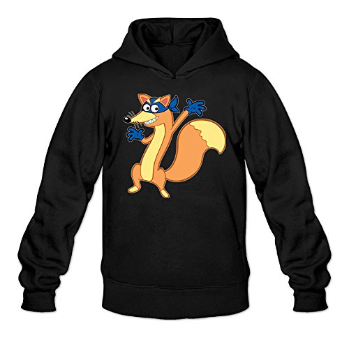 Dora The Explorer Swiper Men's Long Sleeve Sweatshirt Black US Size L]()