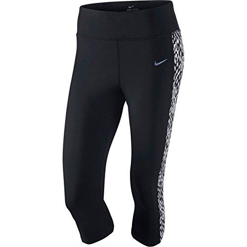 Nike Women's Epic Lux Printed Running Capris, Black, Medium