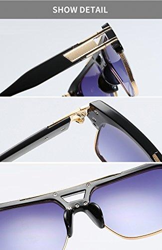 mujer wayfarer Wear de Cuadrado Plata de lentes Day de negro color hombre Lentes marco hombre marca de Lens Eye Unisex Gafas con Gradient para para estuche de Vision diseño de sol tSqXwq