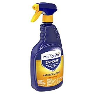 Microban 24 Hour Bathroom Cleaner and Sanitizing Spray, Citrus Scent - 22 Ounce (Pack of 2)