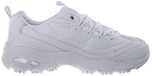 Silver Skechers Damen 11422 Extreme Sneaker D'Lites White BKW HHSqn0Z