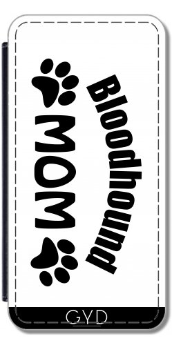 Leder Flip Case Tasche Hülle für Apple Iphone 7 / Iphone 8 - Bloodhound Mom by loki1982