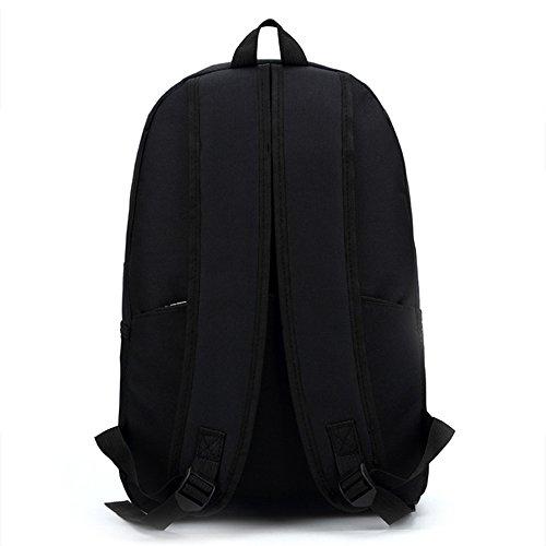 Anne - Bolso mochila  para mujer negro amarillo Red