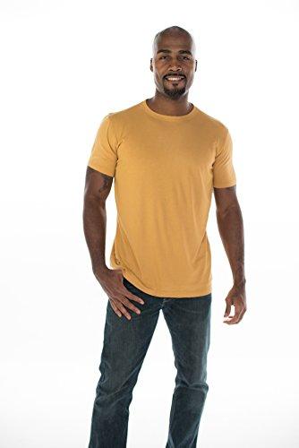 Organic Hemp Shirt (ONNO Men's Bamboo T-Shirt L Mustard)